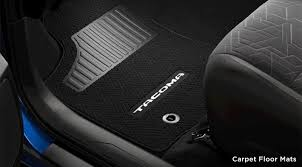 toyota tacoma floor mat accessory packages for the 2016 toyota tacoma
