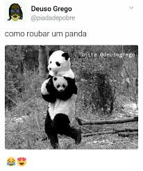 deuso grego como roubar um panda insta gdeusogrego meme on me me