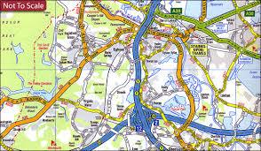 map az a z m25 road map stanfords