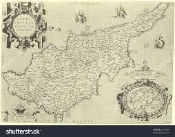 Ancient Map Cyprus Ancient Map Stock Photo 5194384 Shutterstock