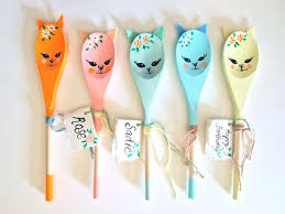 follow my passion kitten personalised decorative wooden spoon