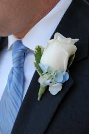 blue boutonniere white boutonniere with hydrangea b11 b a florist of east