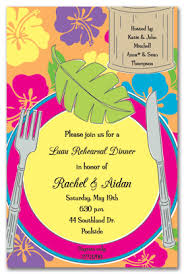 rehearsal dinner invitations for the luau theme party