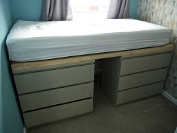 Ikea Single Bed Ikea Hack With Malm Drawers Into A Single Bed Throughout Stylish