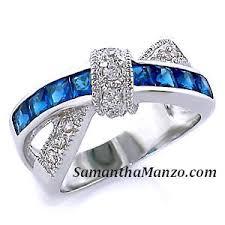 blue wedding rings colors