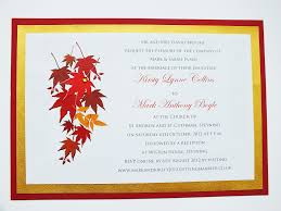 autumn wedding invitations autumn themed wedding invite leaves