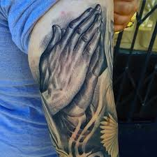 100 cross with prayer hands tattoo 21 inspiring christian