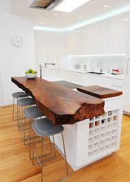 wood island kitchen 15 stylish wood furniture and features with edge simple