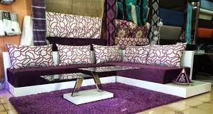tissu pour canapé marocain salon marocain mauve et beige chaios com