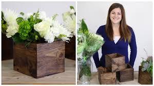 diy wood cube planter youtube
