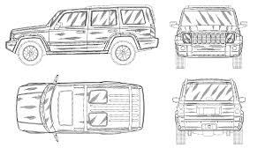 jeep drawing jeep commander 2005 smcars net car blueprints forum