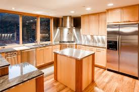 kitchen charming l shape kitchen decoration using cream granite