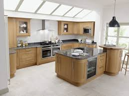 oak wood grey glass panel door top rated kitchen cabinets