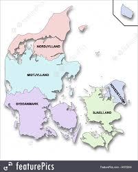 map of regions of denmark illustration