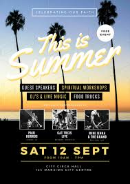 this is summer church event flyer template