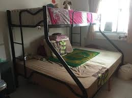 Queen  Single Bunk Bed Free Coffee Table Singapore - Queen single bunk bed
