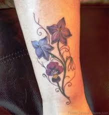 45 fantastic larkspur flower tattoos
