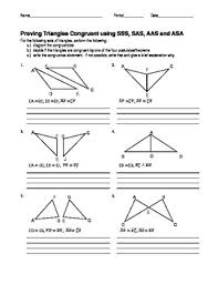 proving triangles congruent with congruence shortcuts geometry