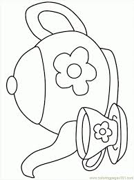 tea cup coloring page az coloring pages throughout tea cup
