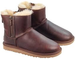 ugg s zip boots ugg mini leather chestnut uggs uggonline