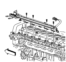 repair instructions off vehicle fuel rail and injectors