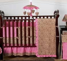 Brown And Pink Crib Bedding Cheetah Pink And Brown Baby Bedding 9 Pc Crib Set Only 189 99