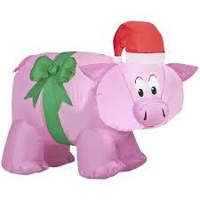 trim a home christmas decorations trim a home pig airblown decoration
