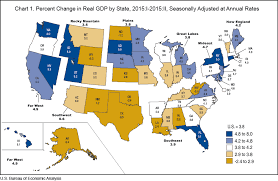 map us states world economies bea news release quarterly gross domestic product by state 2005