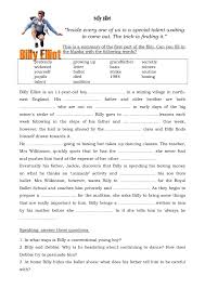 movie worksheet billy elliot english reading pinterest
