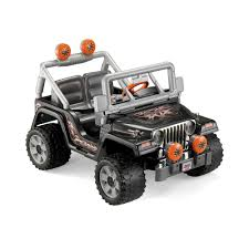 jeep wood box power wheels black tough talkin u0027 jeep 12 volt battery powered ride
