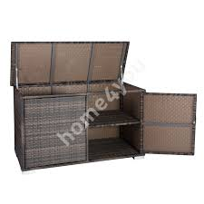 cushion box easy 152x63xh95cm aluminum frame with plastic wicker