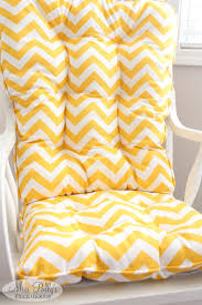 Rocking Chairs Cushions Yellow Chevron Glider Rocking Chair Cushions Custom Made By