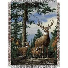 throw by the hautman bros king stag tapestry throw by the northwest at bedding