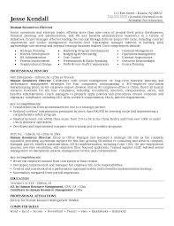 objective in resume for internship mesmerizing hr objective resume 85 in resume examples with hr