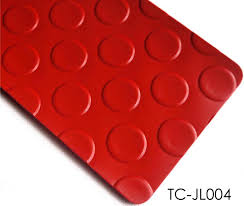 dots coins embossed pattern vinyl flooring roll for vehicle