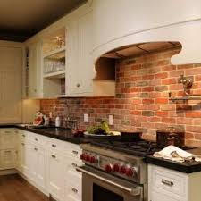 kitchen with brick backsplash best 25 brick backsplash white cabinets ideas on
