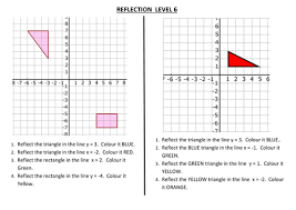 reflection worksheets maths middle pinterest