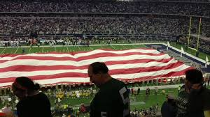 Green Bay Packer Flag Dallas Cowboys V Green Bay Packers National Anthem At U0026t Stadium