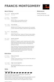 Examples Of Resumes For Truck Drivers by Factory Worker Resume Samples Visualcv Resume Samples Database