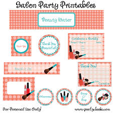 free salon party printables printables mary kay party and spas