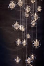 Glass Blown Chandelier Pendant Lights Blown Glass Foyer Lighting Staircase