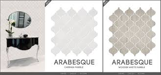 Arabesque Backsplash Tile by Marble Arabesque Mosaic Tile Collection