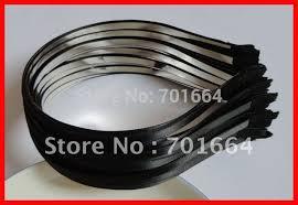 bulk satin ribbon 10pcs 5mm black satin ribbon single covered plain metal hair