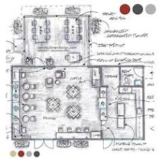 floor plan study of the coffee shop interior design coffee