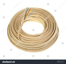 large coil generic telephone wire showing stock photo 105671075