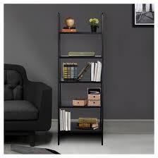 5 Tier Bookshelf Ladder 5 Shelf Ladder Bookcase Target