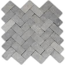 pebble tile natural stone tile the home depot light grey herringbone stone mosaic tile stone mosaic tile