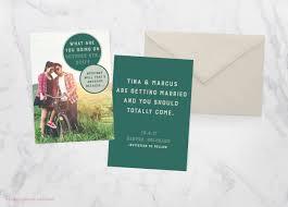 unique invitations 75 unique wedding invitations for cool couples emmaline