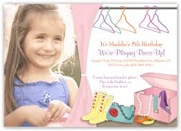 birthday party invitations let u0027s play dress up at minted com