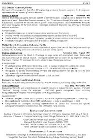 Best Technical Resume Examples by Network Engineer Resume Sample Berathen Com